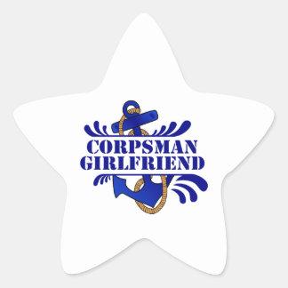 Corpsman Girlfriend, Anchors Away! Star Sticker