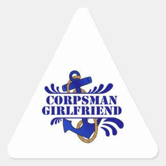 Corpsman Girlfriend, Anchors Away! Triangle Sticker