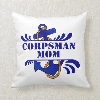 Corpsman Mom, Anchors Away! Throw Pillow