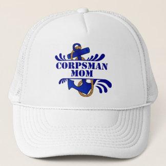 Corpsman Mom, Anchors Away! Trucker Hat