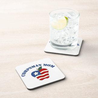 Corpsman Mom Patriotic Apple Drink Coaster