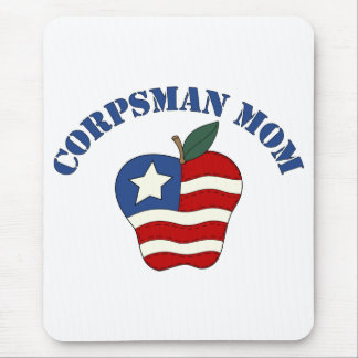 Corpsman Mom Patriotic Apple Mouse Pad