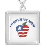 Corpsman Mom Patriotic Apple Necklaces