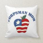Corpsman Mom Patriotic Apple Pillows