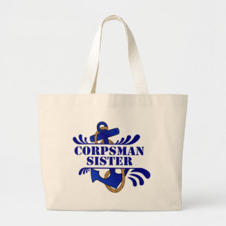 Corpsman Sister, Anchors Away! Canvas Bag