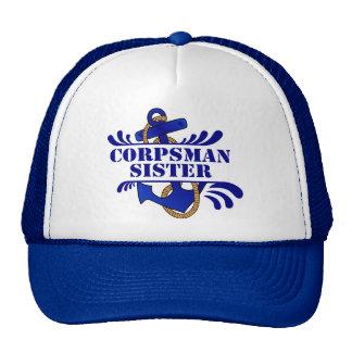 Corpsman Sister, Anchors Away! Mesh Hat