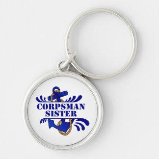 Corpsman Sister, Anchors Away! Key Chain