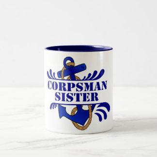 Corpsman Sister, Anchors Away! Mug