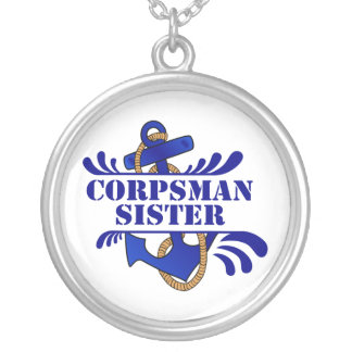Corpsman Sister, Anchors Away! Necklaces