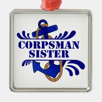 """Corpsman Sister, Anchors Away!"""" Christmas Tree Ornament"""