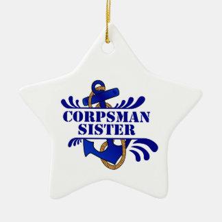 "Corpsman Sister, Anchors Away!"" Ornaments"