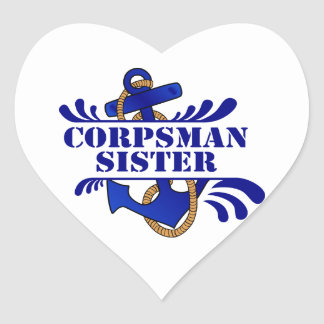 Corpsman Sister, Anchors Away! Stickers