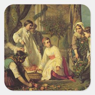 Corpus Christi, 1855 Pegatina Cuadrada