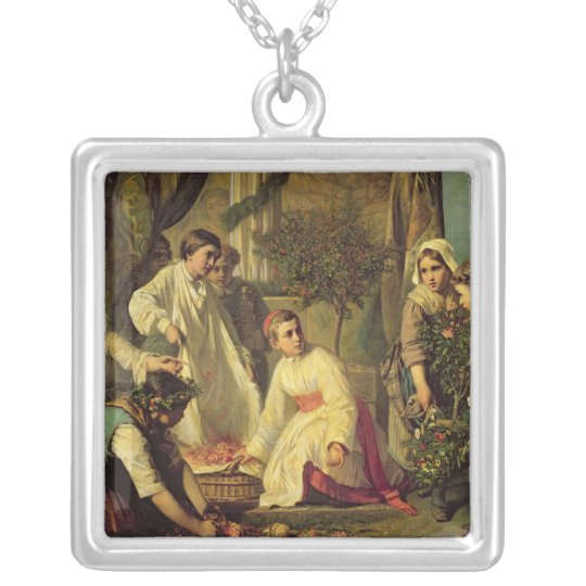 Corpus Christi, 1855 Silver Plated Necklace