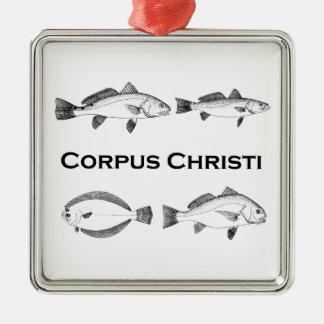 Corpus Christi Fishing  - Saltwater Fish Metal Ornament