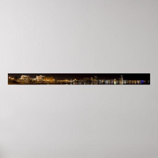 Corpus Christi Night Skyline Poster