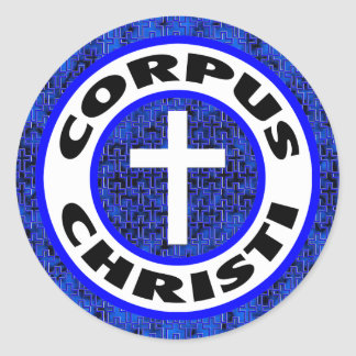 Corpus Christi Pegatina Redonda