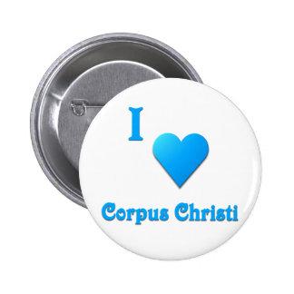 Corpus Christi -- Sky Blue Pinback Button