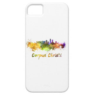 Corpus Christi skyline in watercolor iPhone SE/5/5s Case