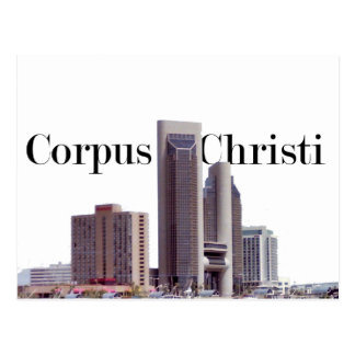 Corpus Christi Skyline w/Corpus Christi in the Sky Postcard