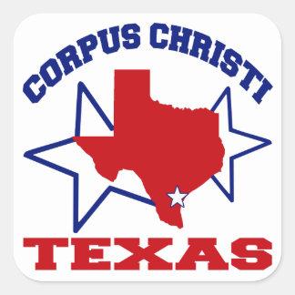 Corpus Christi, Tejas Pegatina Cuadrada