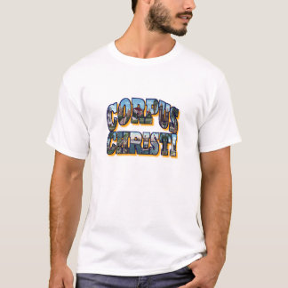 CORPUS CHRISTI Texas Large Pictorial Letters Shirt
