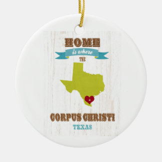 Corpus Christi, Texas Map – Home Is Where Ceramic Ornament