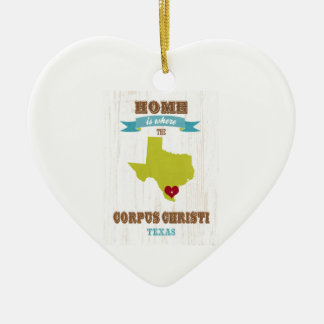 Corpus Christi, Texas Map – Home Is Where Ceramic Ornament