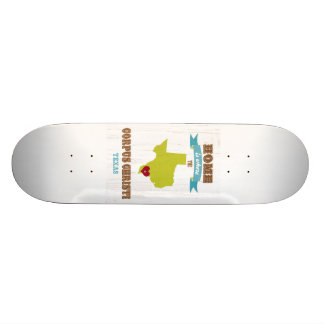Corpus Christi, Texas Map – Home Is Where Skateboards