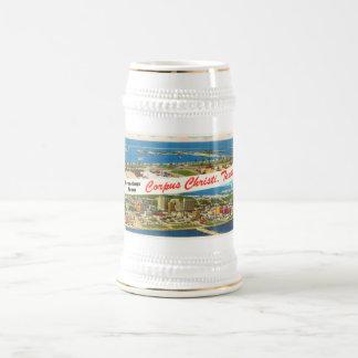 Corpus Christi Texas TX Vintage Travel Souvenir Beer Stein