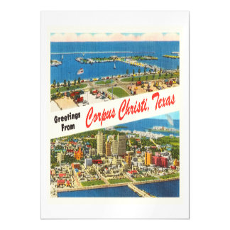 Corpus Christi Texas TX Vintage Travel Souvenir Magnetic Card