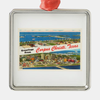 Corpus Christi Texas TX Vintage Travel Souvenir Metal Ornament