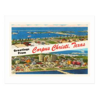 Corpus Christi Texas TX Vintage Travel Souvenir Postcard
