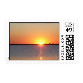 Corpus Christi Tx beautiful sun set Postage Stamps