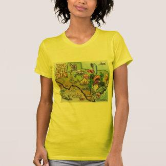 Corpus Christi Tx Cartoon Map T-Shirt