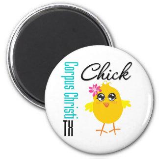 Corpus Christi TX Chick-1 Fridge Magnet