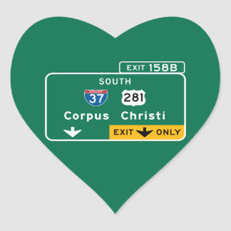 Corpus Christi, TX Pegatina En Forma De Corazón
