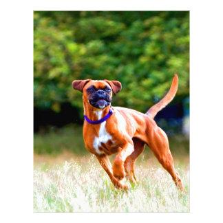 Corra a mi estimado perro del boxeador del amor membretes personalizados