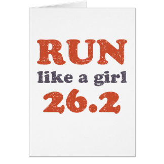 Corra como un chica 26,2 felicitacion