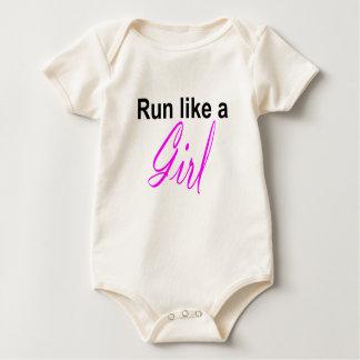 corra como un chica trajes de bebé