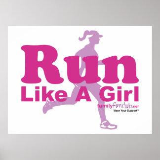 Corra como un chica poster