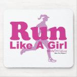 Corra como un chica tapete de raton