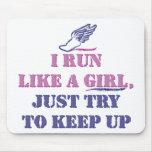 Corra como un chica tapete de ratones