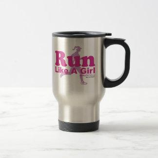 Corra como un chica taza de café