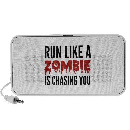 Corra como un zombi le está persiguiendo portátil altavoz