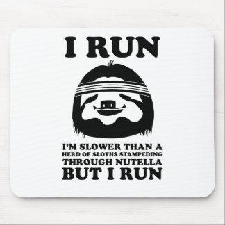Corra como una pereza tapetes de raton