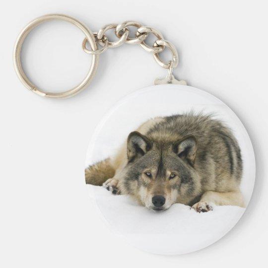 Corra con el lobo llavero redondo tipo pin