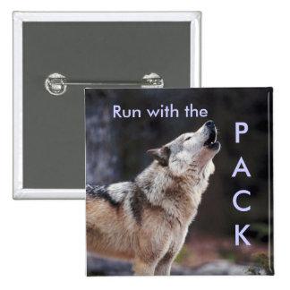 Corra con el paquete pin cuadrada 5 cm