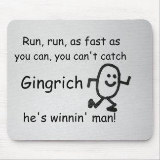Corra, corra, tan rápidamente como usted puede… tapete de raton