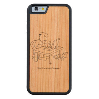 Corra 'del caso de madera de Smartphone de la e Funda De iPhone 6 Bumper Cerezo